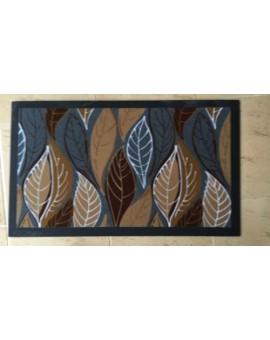 Zerbino foglie tappeto tappetino gomma entrata casa negozio moderno arredo porta