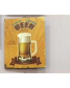 Quadro Su Legno Birra Per Pub Arredo Casa Ufficio Negozio Arredo Moderno