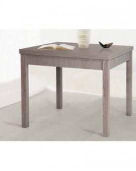 Tavolo per cucina moderna 90x90 aperturaÊlibro larice grigioÊper casa,ristorante