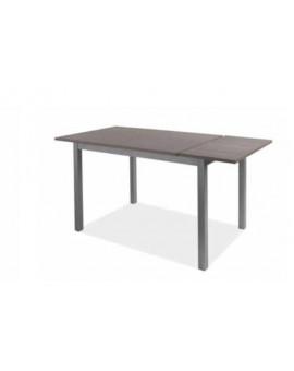 Tavolo allungabile 120x80 moderno coloreÊlarice grigio struttura in metallo