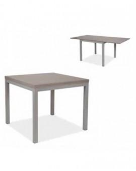 Tavolo quadrato struttura in metallo allumgabile 90x90 a 180x90 larice grigio