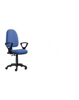 Poltroncina girevole per ufficio seduta interna in faggio imbottita tessuto sky blue