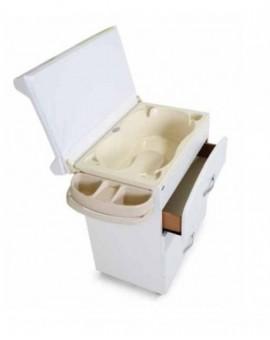 Mobile in legno fasciatoio bianco bagnetto interno bimbi 4 cassetti