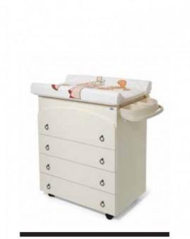 Mobile in legno fasciatoio avorio bagnetto bimbi interno con4 cassetti