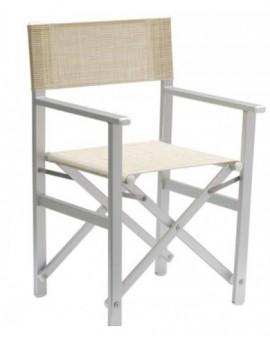 Sedia modello regista mod.lusso tutta in alluminio made in italy per lidi,piscin