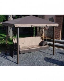 Dondolo 3 posti trasformabile a letto modello pagoda pergola relax altalena