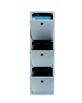 Mobile armadio raccolta differenziata in metallo 3 secchi