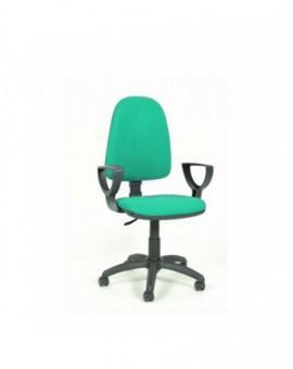Poltroncina girevole per ufficio seduta interna in faggio imbottita tessuto verde