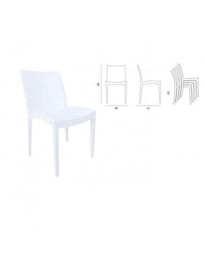 Tavoli Da Giardino In Resina Grand Soleil.Sedia Bianca In Polipropilene Della Grand Soleil Arredo Giardino