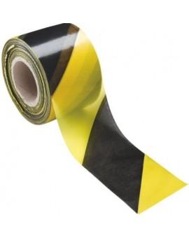 Nastro segnaletico giallo e nero in pvc da 200 mt