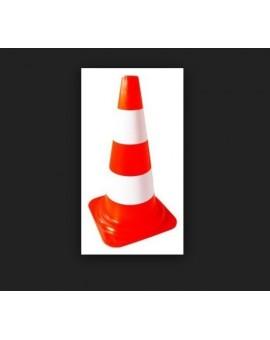 Cono segnaletico stradale spartitraffico bicolore H50 cm in pvc