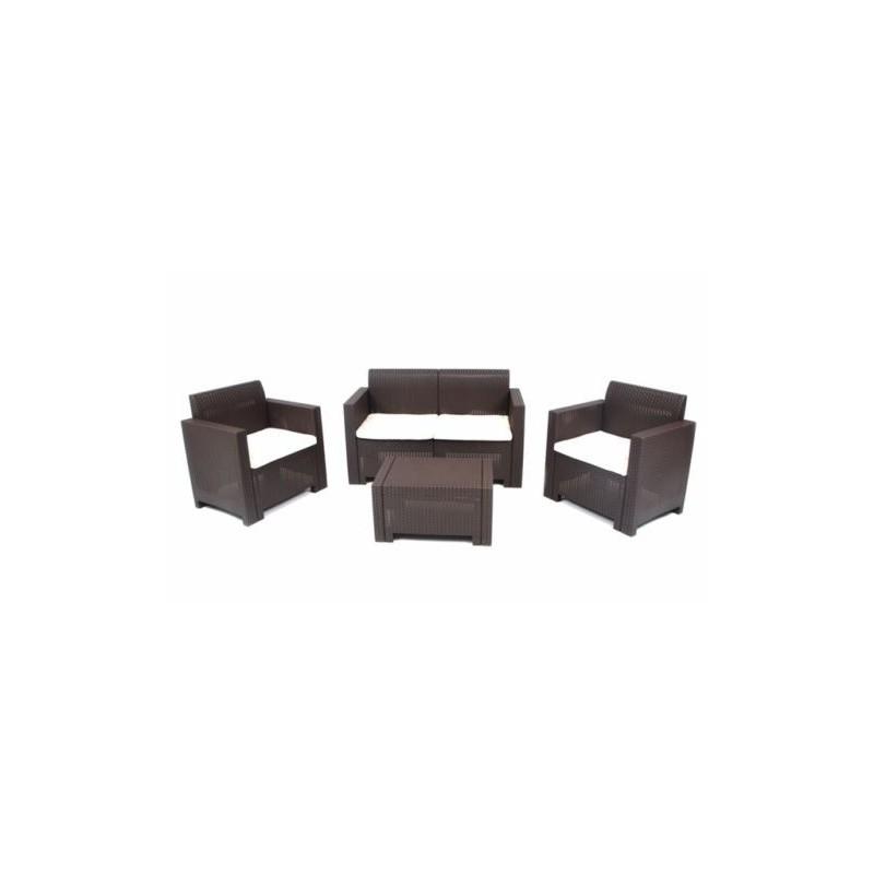 Tavolo Plastica Effetto Rattan.Set Di Tavoli E Sedie Da Esterno Set Per Esterno In Resina Effetto