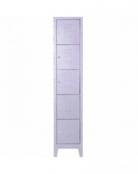 Armadio per ditta in metallo a 5 posti misura 36x40x180 con serrature singole