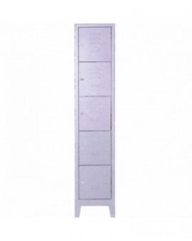 Armadio portaborse in metallo a 5 posti misura 36x40x180 con serrature singole
