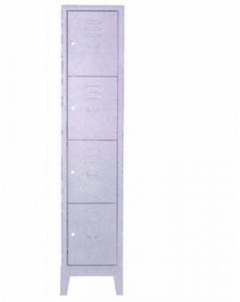 Armadio portaborse in metallo a 4 posti misura 36x50x180 con serrature singole