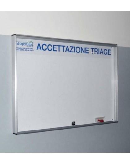 Bacheca porta avvisi magnetica col.argento cornice alluminio annodizato mis30x40
