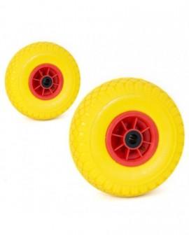 Ruota gommata per carrello portapacchi in poliuretano nn foratura no cameradaria