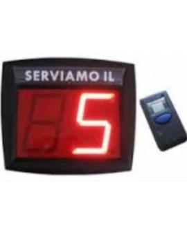 Display a 2 cifre + telecomando eliminacode negozio supermarket