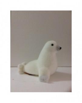 Addobbo natalizio animale foca bianco addobbo natale
