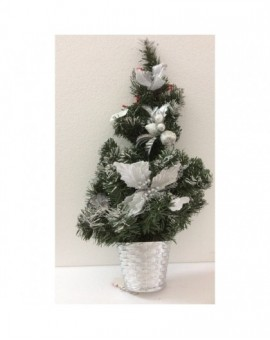 Addobbo natalizio natale fuori porta albero con inserti argento