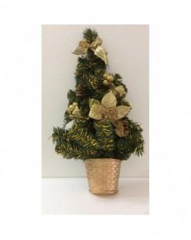 Addobbo natalizio natale fuori porta albero con inserti oro