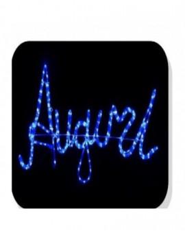 Luce Di Natale Figura Natalizia Scritta Auguri A Led bianco Addobbo per esterno