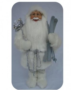 Babbo natale bianco con barba liscia misura 60 arredo natale natalizio