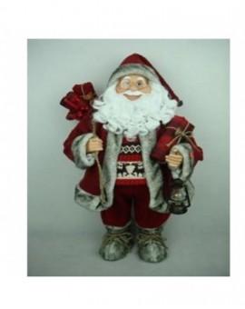 Babbo natale rosso musicale misura 60 musicale arredo natale natalizio