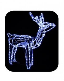 Renna per esterno con movimento luce led bianco mis.75x15x80 addobbo natale