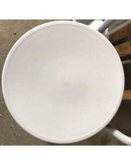 Sedile 10X ricambio fondello per sedia thone vienna di colore bianco in plastic