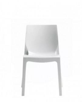 Sedia in resina bianco ultra lucido per casa,ristorante,bar modello ice bianco