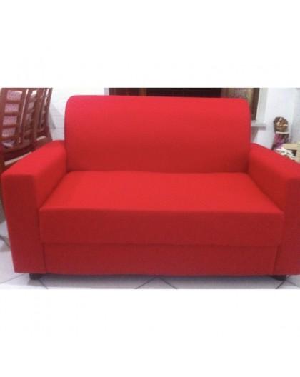 Divano 2 posti da ufficio sala attesa imbottito in tessuto di colore rosso  - Nonsolopoltrone