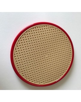 Sedile ricambio fondello per sedia thonet vienna di colore rosso finta paglia