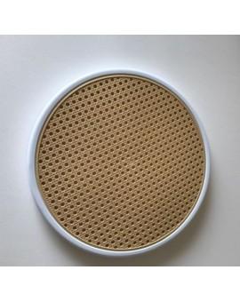 Sedile ricambio fondello per sedia thonet vienna di colore Bianco finta paglia