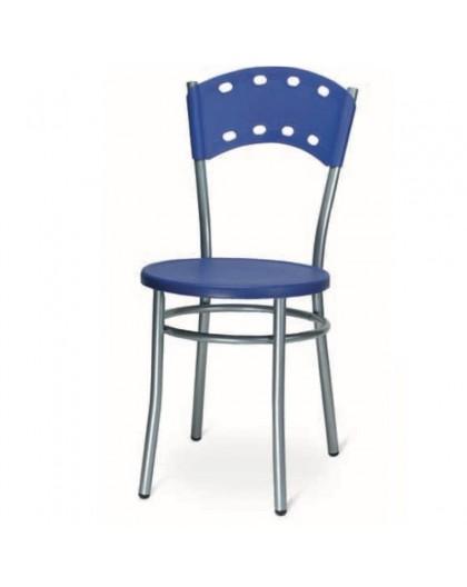 Sedia Da Cucina Plastica.Sedia Da Cucina Bar Ristorante In Metallo Con Seduta E Scienale In