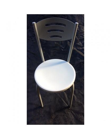Sedie In Plastica Per Bar.Sedie Per Bar Ristorante Locale Cucina Struttura Metallo Seduta Plastica Bianco Nonsolopoltrone