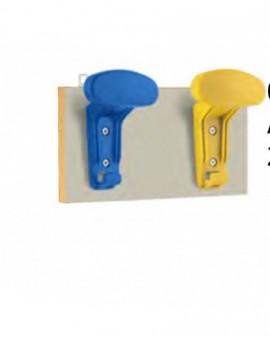 Attaccapanni appendiabiti da muro a 2 posti in vari colori mis.60x13 scuola