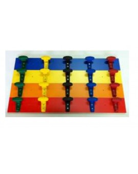 Attaccapanni appendiabiti da muro a 5 posti in vari colori mis.90x13 scuola