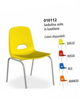 Sediolina per asilo in kastilene robusta per scuola asilo in vari colori