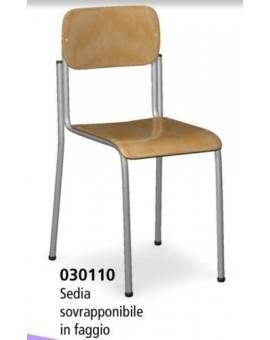 Sedia per scuola in faggio sovrapponibile arredo scuola