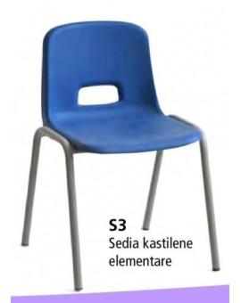 Sedia per scuola elementare in plastica Kastilene arredo scuola vari colori