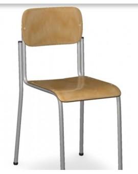 Sedia sovrapponibile in faggio arredo scuola da 40 cm scolastico