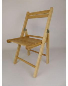 Sedia pieghevole in legno naturale per bambini cameretta
