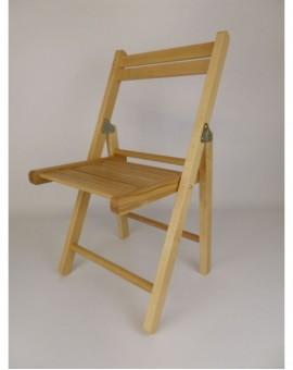 Sedia pieghevole in legno naturale baby per bambini cameretta da giardino
