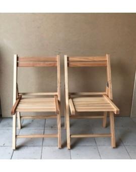 Sedia pieghevole in legno naturale per bambini offerta 2 pezzi gioco cameretta