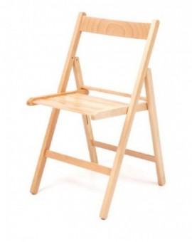 4 sedie pieghevoli in legno di faggio colore naturale