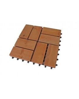 Pavimento in legno piastrelle piscina giardino30x30 con rete abs per unire
