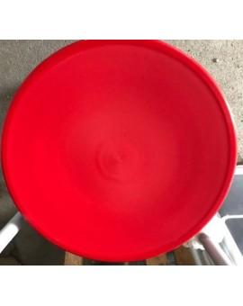 Sedile 10X ricambio fondello per sedia thonet vienna di colore rosso polipropilene
