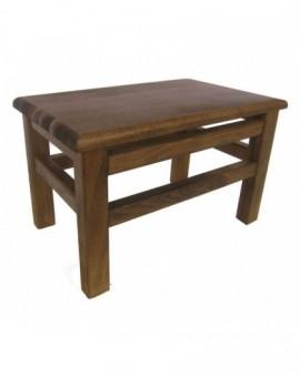 Poggiapiedi in legno massello con pianale in legno di faggio noce