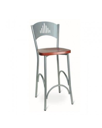Sgabelli Alti Con Schienale.Sgabello Alto Per Snack Seduta In Legno Ciliegio Schienale Metallo Vari Colori Nonsolopoltrone
